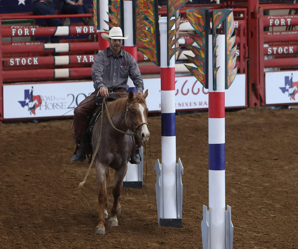 Cole Cameron competes at Road to the Horse.
