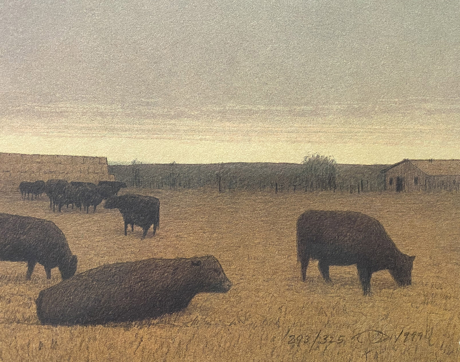 Russell Chatham painted Winter Pasture