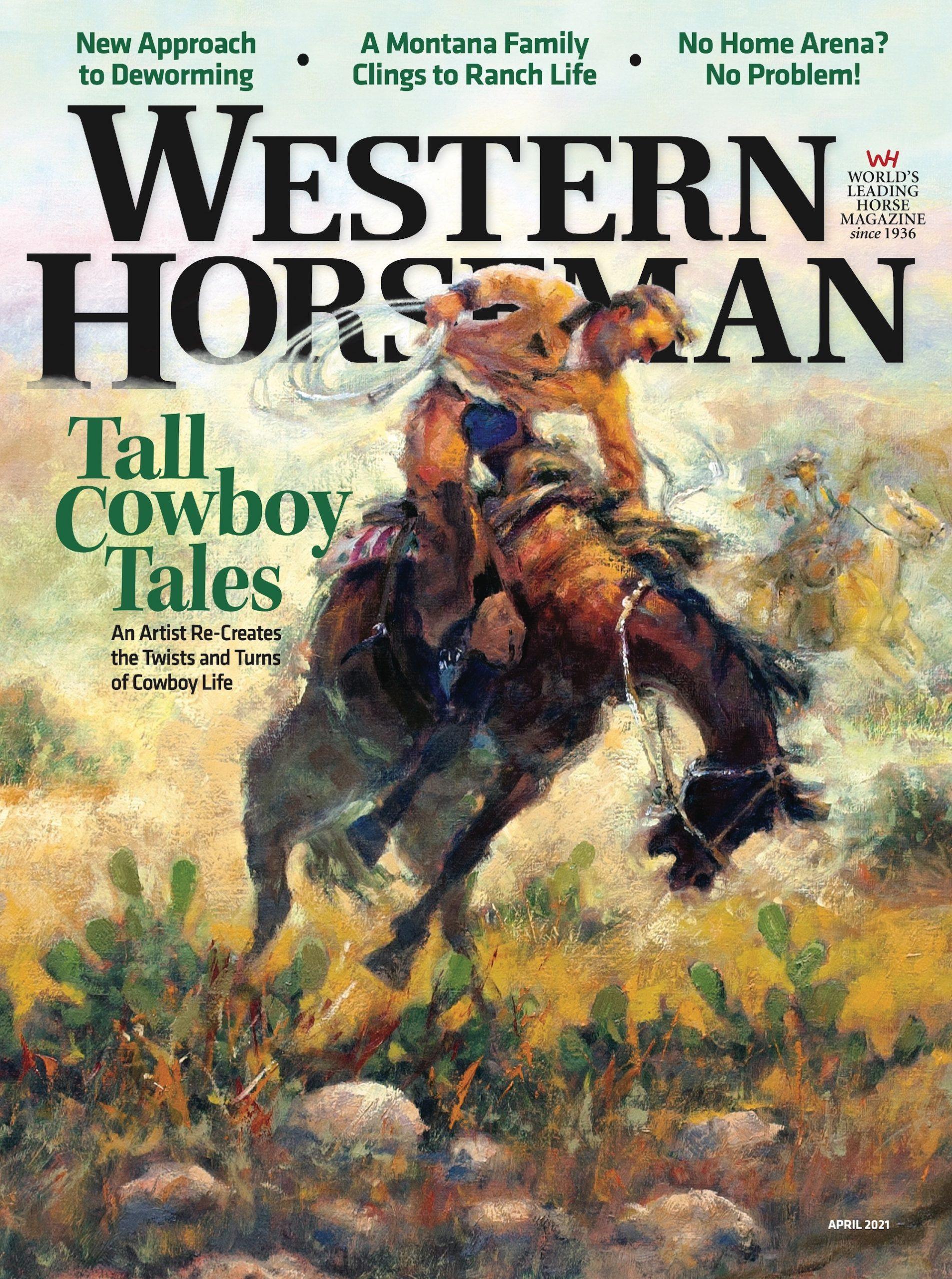 Western Horseman magazine April 2021 cover