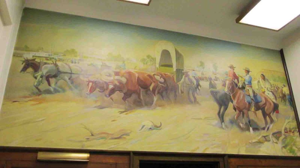"""""""General Sully at the Yellowstone"""" is a mural by artist J.K. Ralston"""