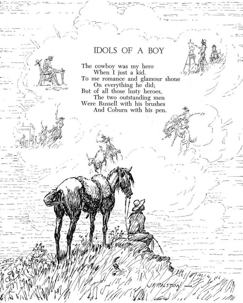 A cowboy poem and illustration by J.K. Ralston