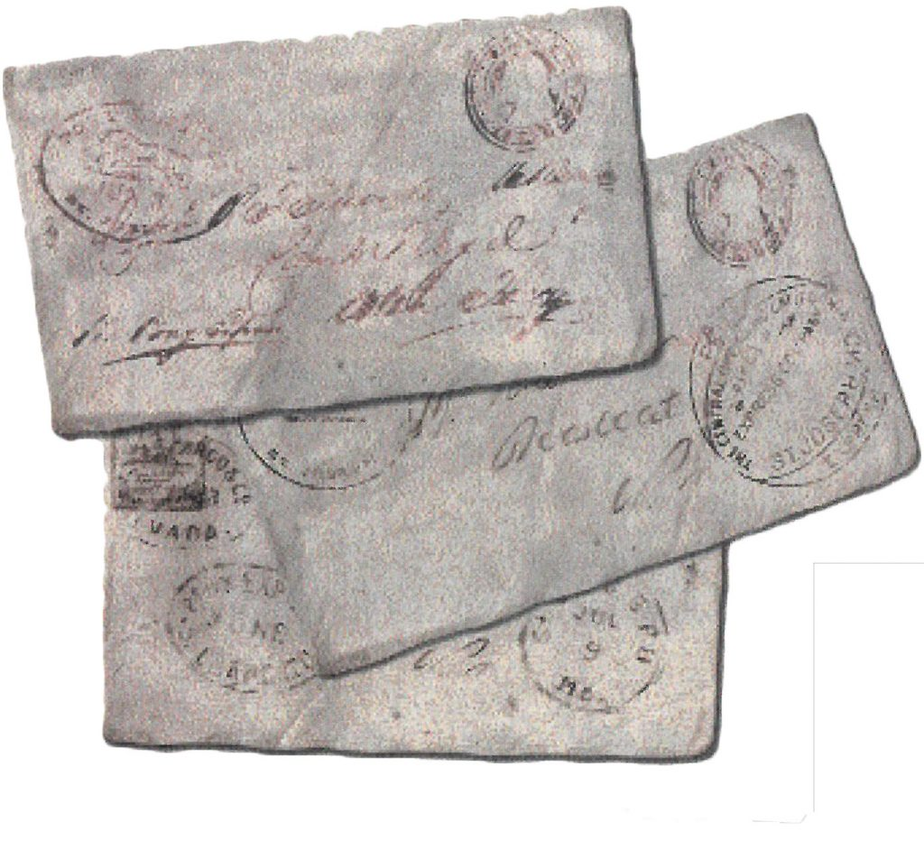 Letters delivered on the Pony Express