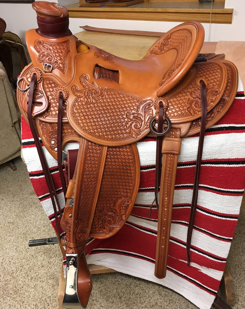 Saddle made by Chas Weldon