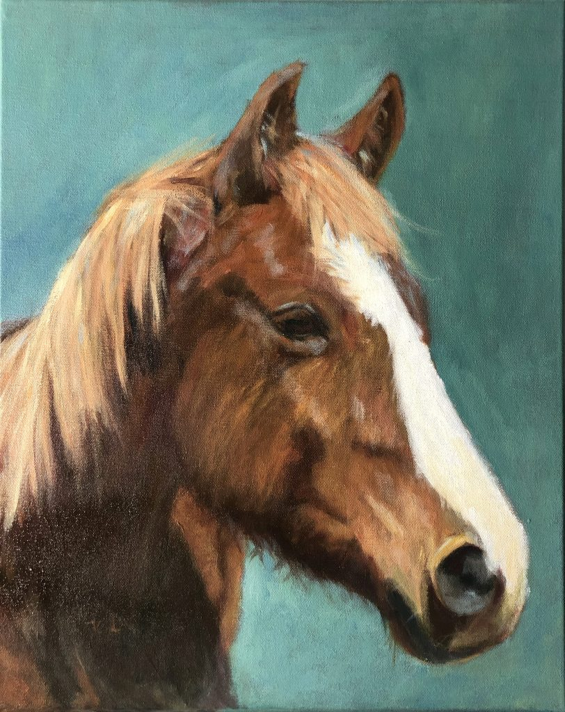 The Boss on the 14-18 age division of the Western Horseman Youth Art Contest.
