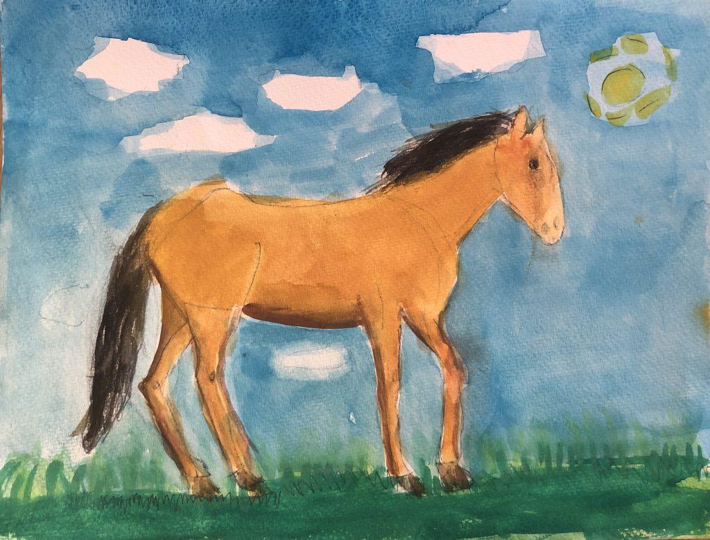 Sunny Day, by Esther Mahnovsky, the Western Horseman Youth Art Contest