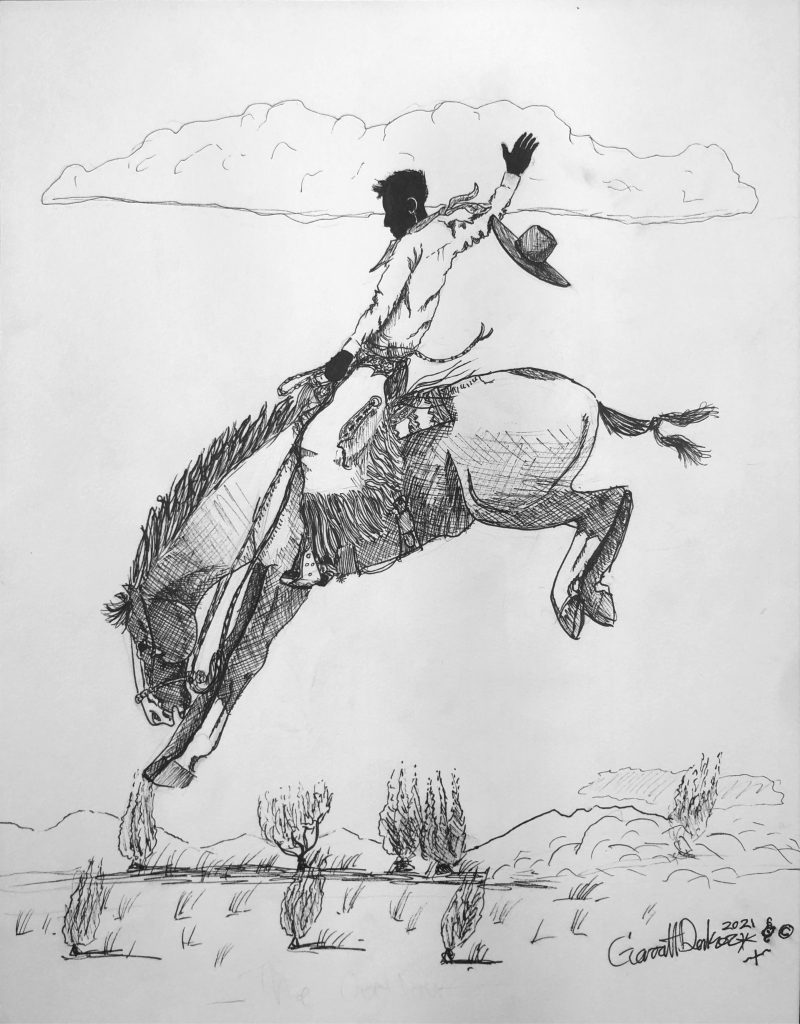 Bronc Rider won reserve in the 9-13 age division of the Western Horseman Youth Art Contest