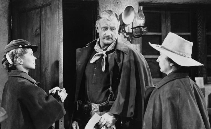 John Wayne starred in the Western film She Wore a Yellow Ribbon.