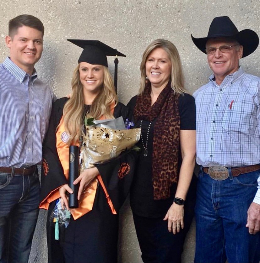 Tacy Kay Webb with her family.